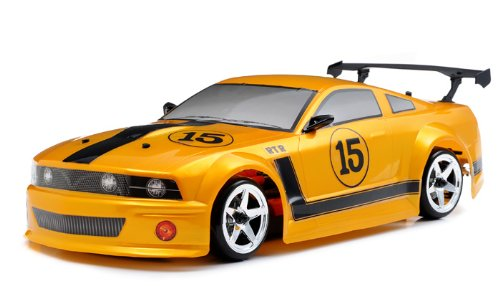 Exceed RC 2.4Ghz MadSpeed Drift King 1/10 Electric Ready to Run Drift Car (FMG-Yellow)