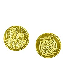 Lagna Yog Yantra Coin 10gms In Copper Gold Plated Blessed And Energised