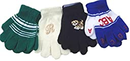 Four Pairs of One Size Magic Stress Gita Gloves for Infants Ages 6-24 Months