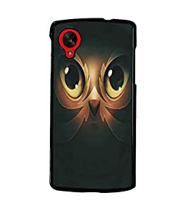 PrintDhaba Owl Man D-5365 Back Case Cover for LG GOOGLE NEXUS 5 (Multi-Coloured)