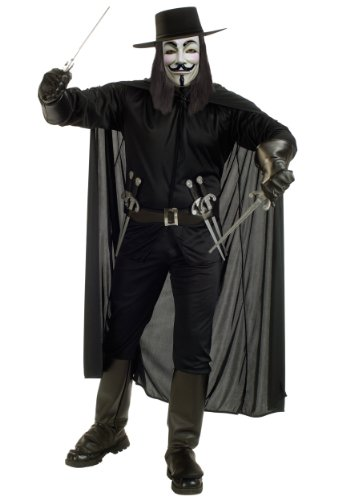 Rubies Mens Movie Characters V For Vendetta Warrior Fancy Costume