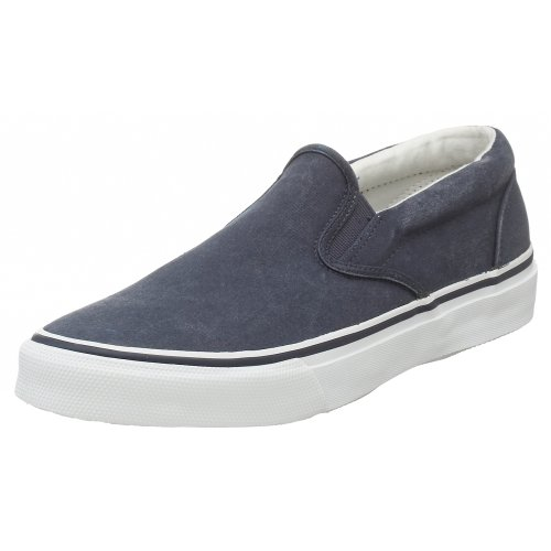 Striper Slip On Boat Shoe -Mens Saltwashed Navy 10.5