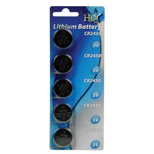 HQ CR2450 Blister de 5 Piles Lithium 3 V 560 mAh