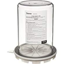 "Nalgene 5305-0609 Polycarbonate Vacuum Chamber Jar with Polypropylene Vacuum Plate, 4.7L Capacity, 6-5/8"" OD x 9-3/8"" Overall Height"
