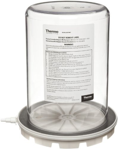 """Nalgene 5305-0609 Polycarbonate Vacuum Chamber Jar With Polypropylene Vacuum Plate, 4.7L Capacity, 6-5/8"""" Od X 9-3/8"""" Overall Height front-575556"""