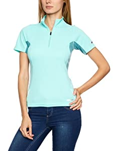Berghaus Women's Active Short Sleeve Zip Baselayer - Anti Freeze/Marine Turquoise, Size 10 (Old Version)