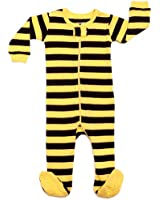 "Leveret Footed ""Bee Striped"" Pajama Sleeper 100% Cotton (Size 6M-5T)"
