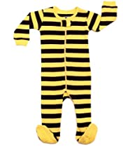 Leveret Bee Striped Sleeper (18-24 Months, Black & Yellow)