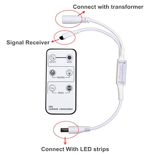 ledmo 1 pack  mini remote control dimmer for single color
