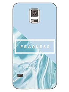 Fearless - Typography - Designer Printed Hard Back Shell Case Cover for Samsung S5 Superior Matte Finish Samsung S5 Cover Case