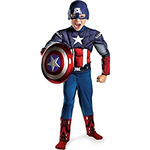 Captain America Avengers Classic Muscle Child (Large (10 - 12))