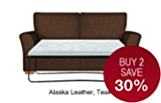 Lincoln Medium Sofa Bed - Leather