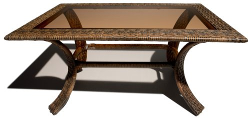 Strathwood All-Weather Cashmere Wicker Rectangular Coffee Table