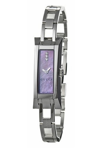 9cd6cb35329 GUCCI Women s YA110515 110 Collection Diamond Stainless Steel Watch