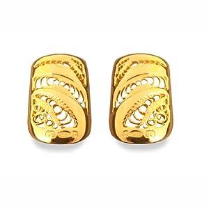 Bohem Silver and Gold Filigree Gold Lace Nail Large - Pair
