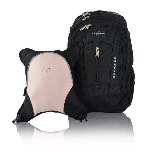 obersee-zaino-fasciatoio-bern-con-borsa-termica-removibile-nero-bubblegum