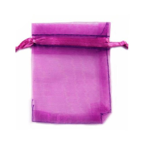 20pcs Organza Rectangle Gift Bag Jewelry Pouch Wedding Party Favor Bag 6.7×9.1Purple