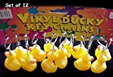 "Rubber Duck Ducky Duckie Keychains Baby Shower Birthday Party Favors, 2"" x 2"" (1-Pack of 12)"