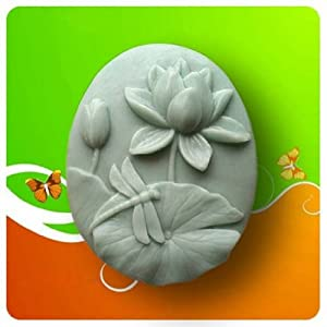 Lotus dragonfly 50074 Craft Art Silicone Soap mold Craft Molds DIY Handmade soap molds