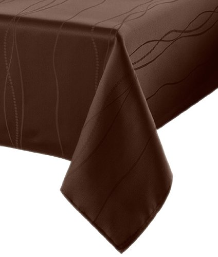 Benson mills gourmet spillproof fabric tablecloth for 102 inch table runners