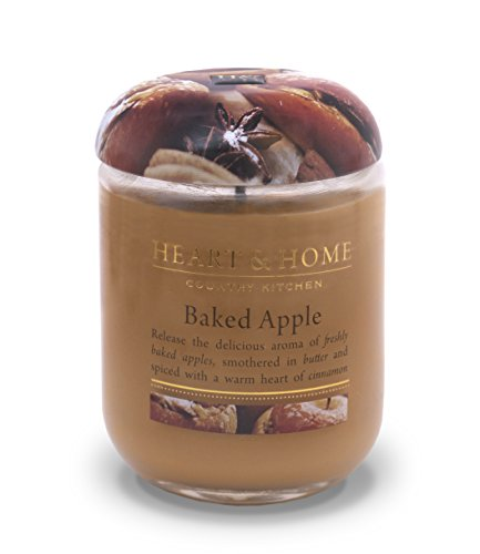 Heart & Home Large Glass Baked Apples Candle