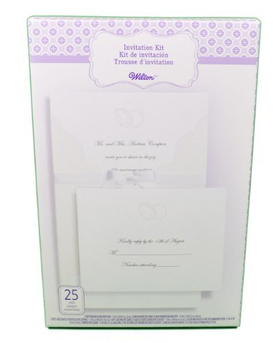 WILTON 25-Count Invitation Kit - Embellsihed Rings