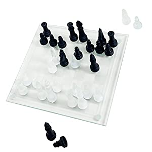 Elegant Glass Chess And Checker Board Set