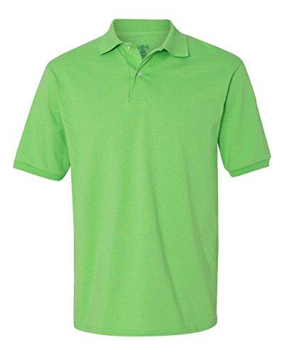 jerzees-50-50-mens-56-oz-jersey-polo-with-spotshield-kiwi-xx-large