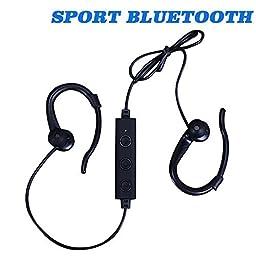 MKT BT-008 Wireless In-Ear Sweatproof Bluetooth Headphones with Mic, Black