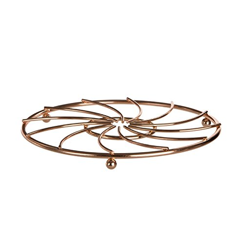 Gold Metal Wire Trivet Kitchen Hot Pan Plate Coaster Dining Table Worktop  Stand