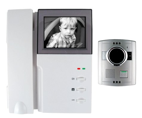 Black and White Video Door Entry Phone System
