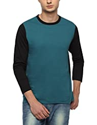 PepperCub Men's Cotton Round Neck - Full Sleeve -Mint Green And Black