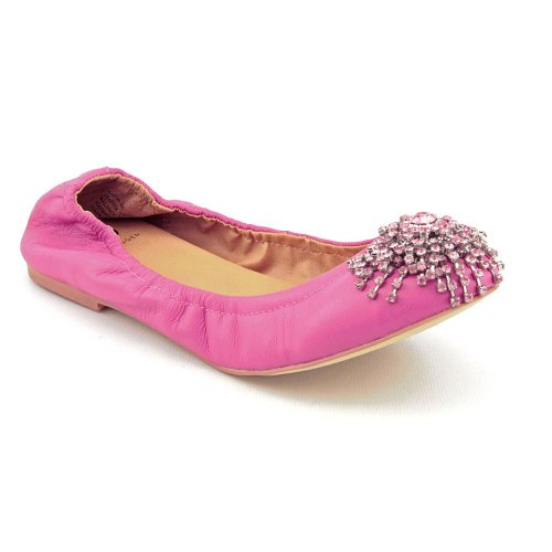 Kelsi Dagger Arena Womens Size 7 Pink Leather Ballet Flats Shoes New Display