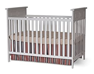 Child Craft Logan Traditional Stationary Crib Matte White
