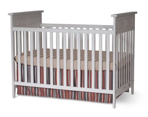 Child Craft Logan Traditional Stationary Crib, Matte White