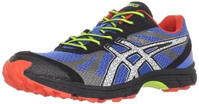 ASICS Men's Fuji Racer Trail Running Shoe,Blue/Lightning/Red,6 M US