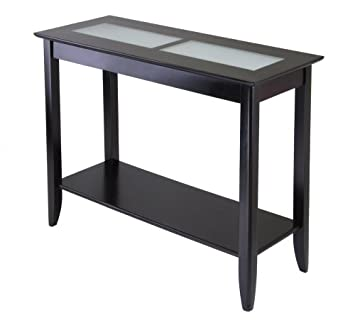 Winsome Wood Syrah Hall Table with Frosted Glass, Shelf: