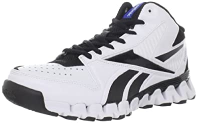 Reebok Zignano Profury Basketball Sneaker (Little Kid/Big Kid),White/Black/Vital Blue,3.5 M US Big Kid