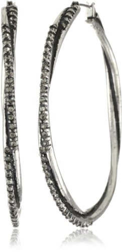 Jessica Simpson Large Double Hoop Earrings