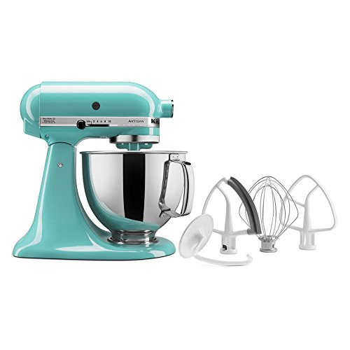 KitchenAid KSM153PSAQ 5 QT Tilt Head Artisan Stand Mixer - (Kitchen Aid Aqua Stand Mixer compare prices)