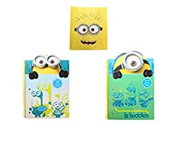 Minion Back to School Spiral Pack ~ 2 Notebooks 1 Minion Tote