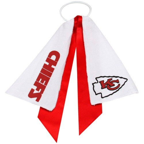 kansas-city-chiefs-ponytail-holder-hair-tie-ribbon-by-littlearth-by-littlearth