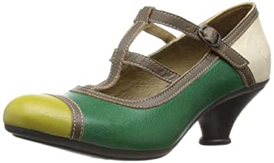 Fly London  Fane, Damen Pumps Mehrfarbig grün 37.5 (5 UK)