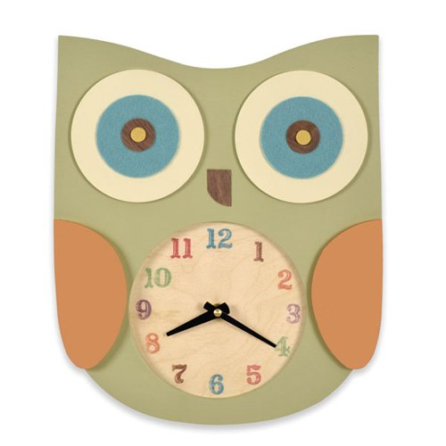 Tree by Kerri Lee Owl Clock, Green