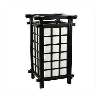 Oriental Furniture Simple, Beautiful, Graduation Gift Idea For Him, 17-Inch Japanese Lantern Table Lamp, Black