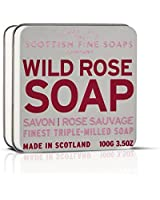 Scottish Fine Soaps Rose Floral Soap Tin  Soap 100g