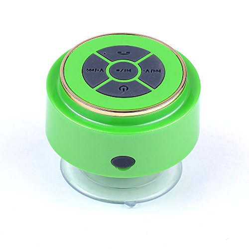Baudio V15 Hot Sale Ipx6-7 Waterproof Mini Bluetooth Shower Speaker Enhanced Bass Audio Crystal Clear Sound With 8 Hours Playtime Built-In Microphone Hands-Free Phone Calling And Answering With Suction Cups For Smart Phones Iphone Ipad Tablets Mp3 Player