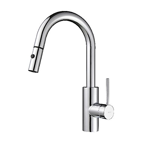 Kraus KPF-2620CH Modern Mateo Single Lever Pull Down Kitchen Faucet, Chrome (Faucets Chrome compare prices)