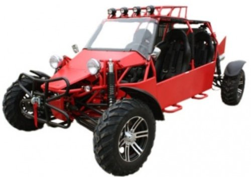 BMS Sand Sniper 1000 RED Gas 4 Cylinder 4 Seat Dune Buggy Go Kart
