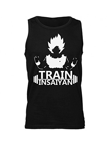 Dragon Ball Train Insaiyan Men's Tank Top Shirt Large